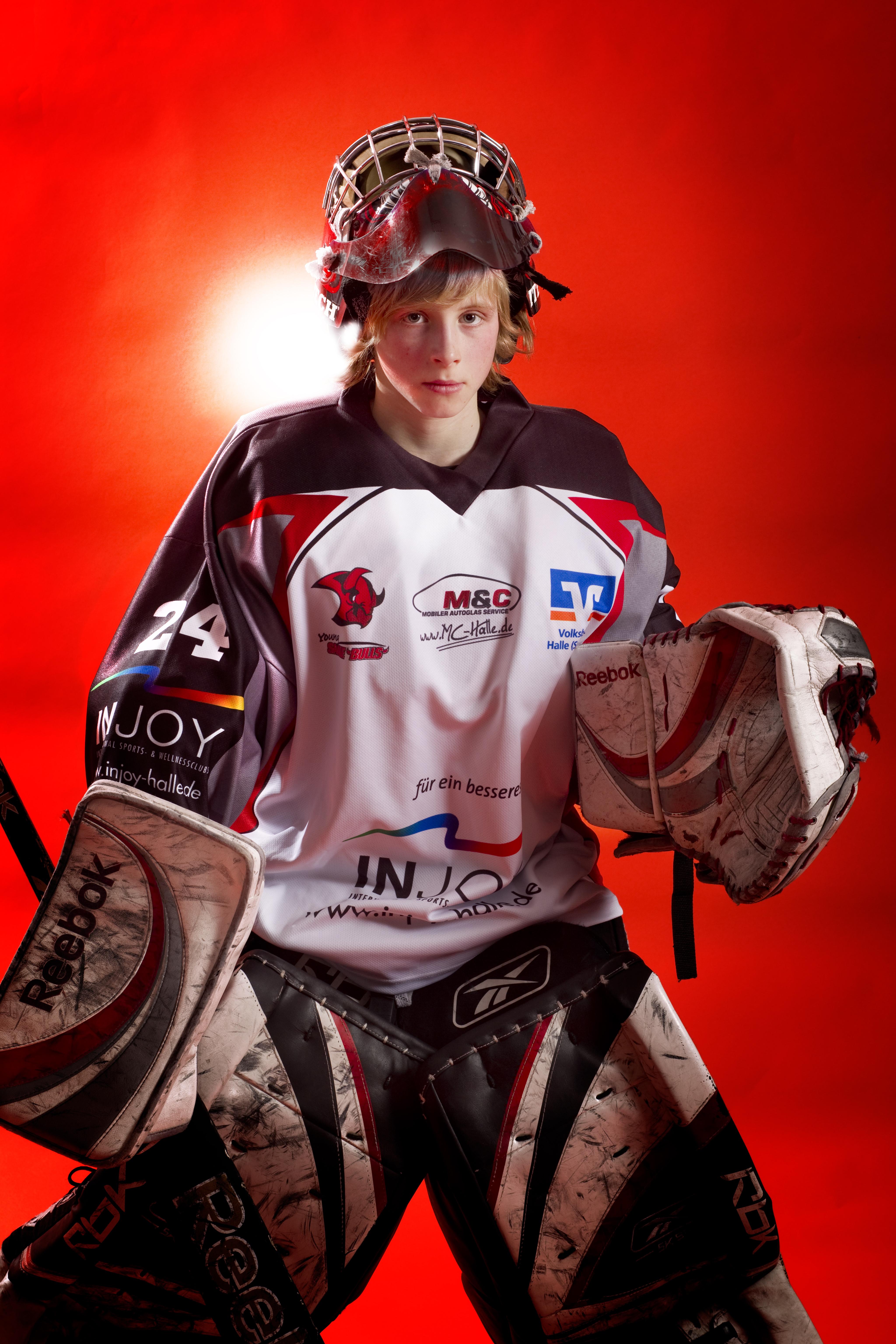 ESV Halle Eishockey - Torwart Nachwuchs; Copyright: Maigrün | Uwe Köhn; Rechte: Creative-common - Namensnennung http://www.maigruen.com