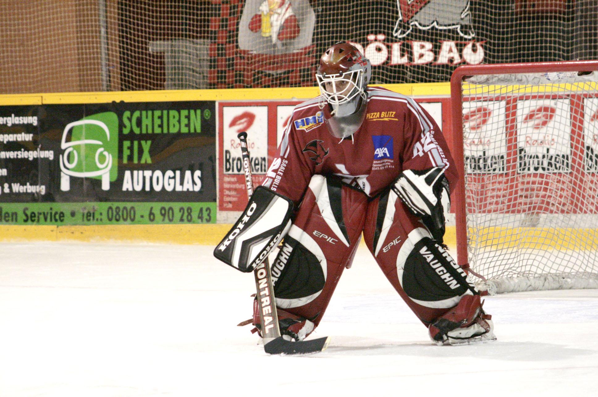 ESV Halle Eishockey - Torwart; Copyright: Maigrün | Uwe Köhn; Rechte: Creative-common - Namensnennung http://www.maigruen.com