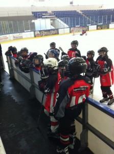 Young Saale Bulls Kleinschüler - ESVHalle - Teambesprechung an der Bande