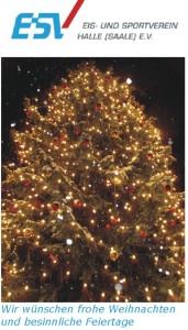Frohe Weihnachten wünscht der ESV Halle e.V.