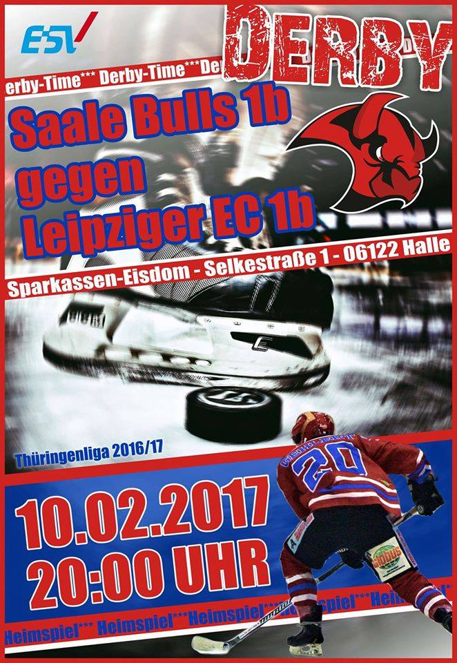 Derbytime bei den Saale Bulls 1b