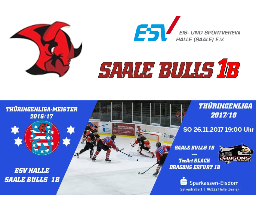 Saale Bulls 1b wieder gegen Black Dragons 2