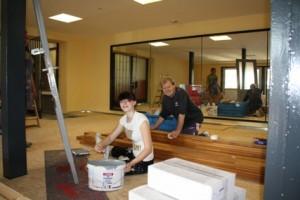Foto des Tages: Ein neuer Gymnastikraum für den ESV Halle