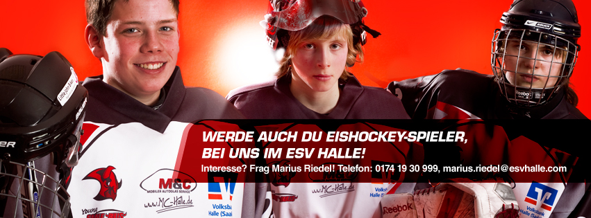 Werde auch Du Eishockey-Spieler, bei uns im ESV Halle!