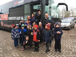 An und Heimreise im Saale Bulls Bus