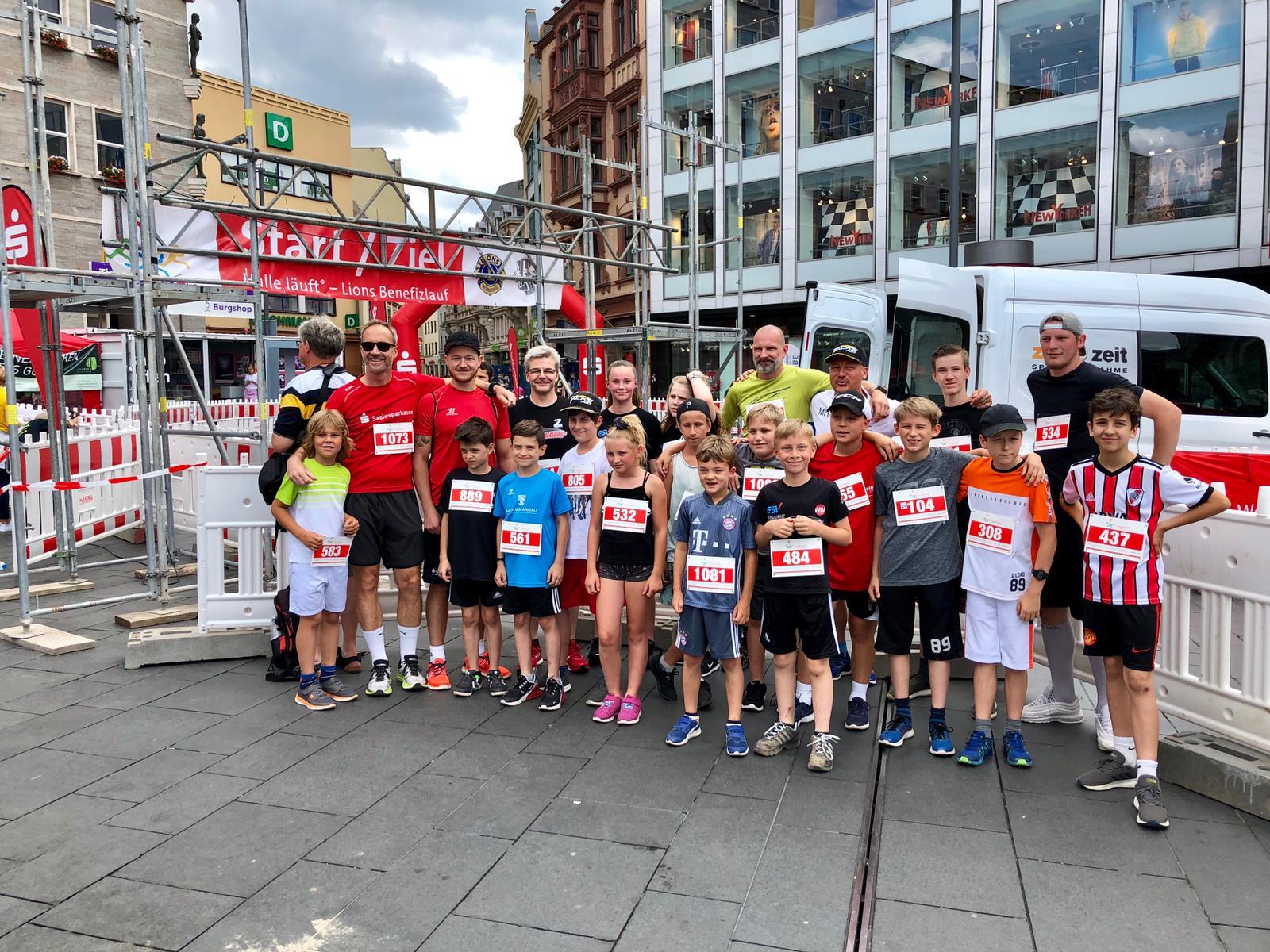 Team ESV Halle beim Lions Benefizlauf 2019