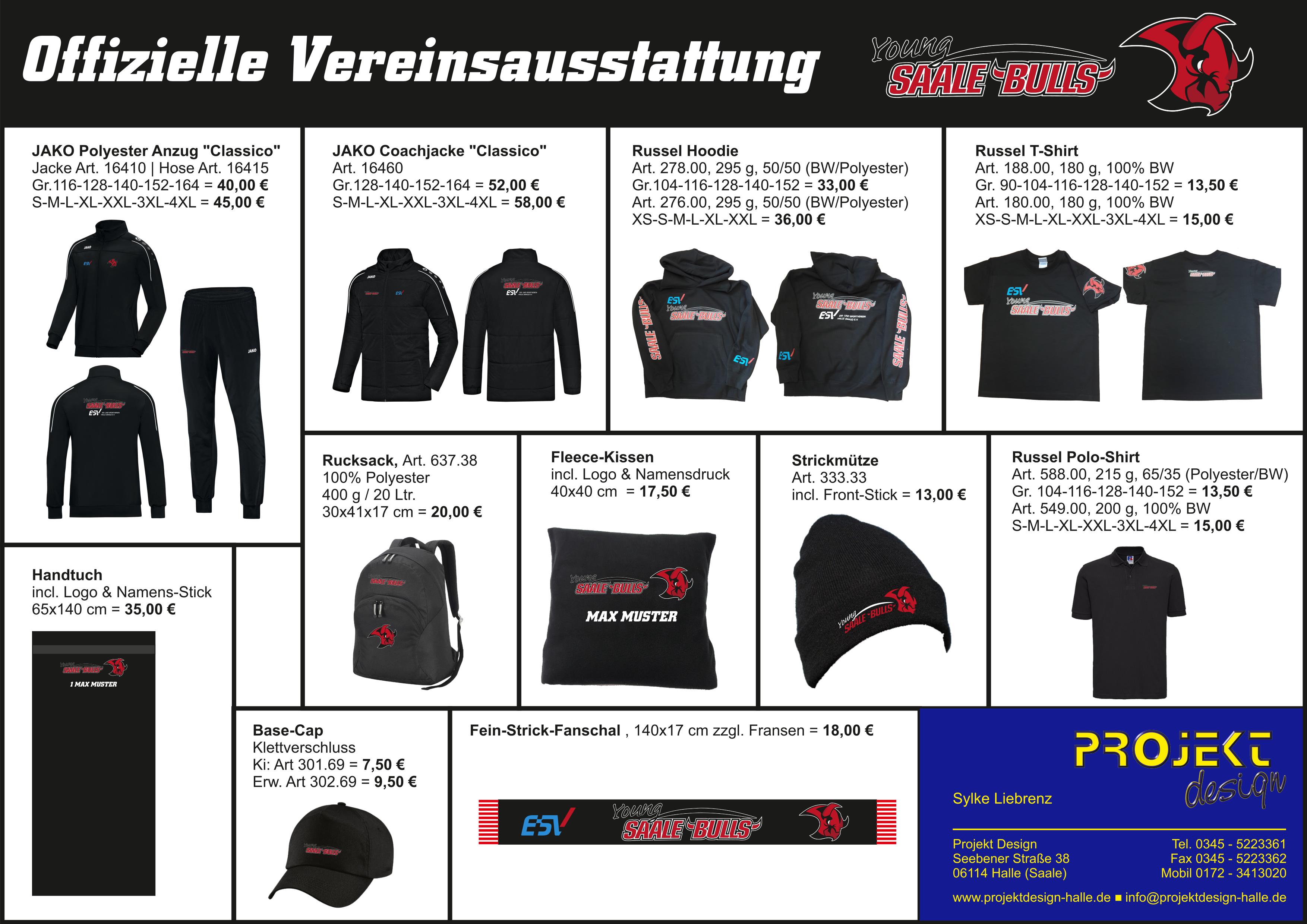 Young Saale Bulls Teamwear via Projekt Design