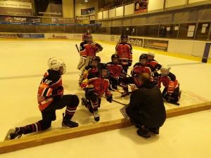 Taktikbesprechung mit Coach Vladi